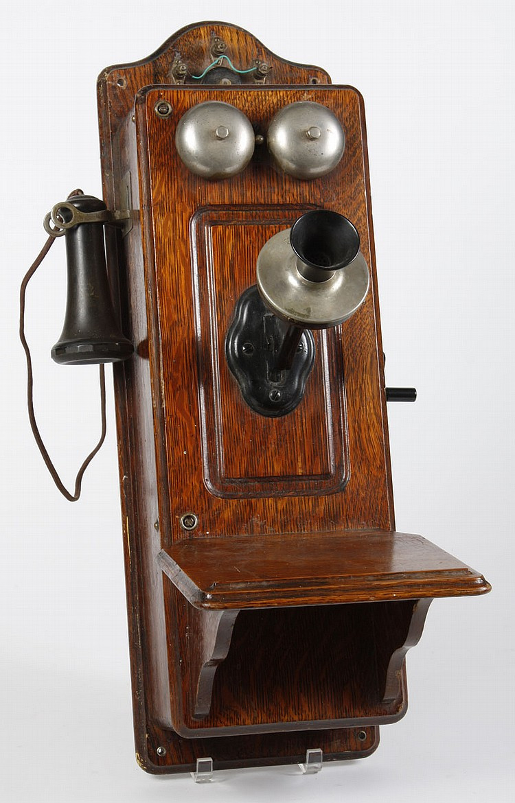 Beautiful Antique Kellogg Oak Hand Crank Wall Telephone All original Antique Wall Telephone Of Superb 36 Ideas Antique Wall Telephone