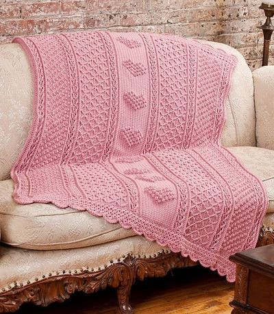 Beautiful Aran Hearts Throw Free Crochet Pattern Knits and Kits Aran Crochet Afghan Pattern Of Gorgeous 41 Pics Aran Crochet Afghan Pattern