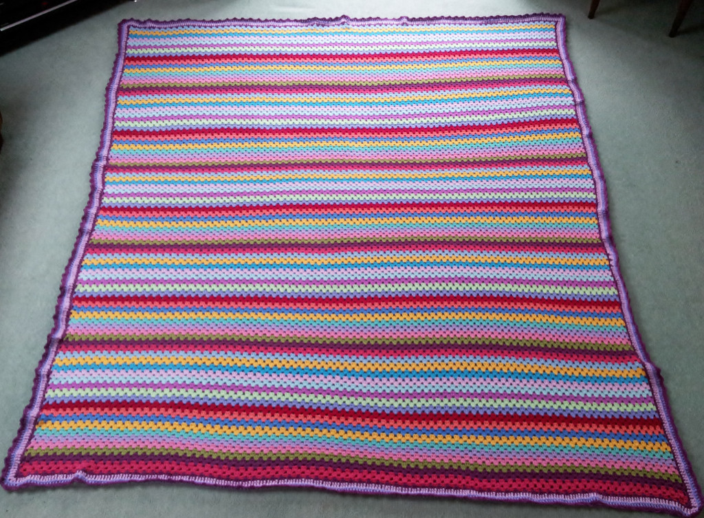 Beautiful attic 24 Granny Stripe Blanket and Edging – Tried and Blanket Edging Of Great 41 Pics Blanket Edging
