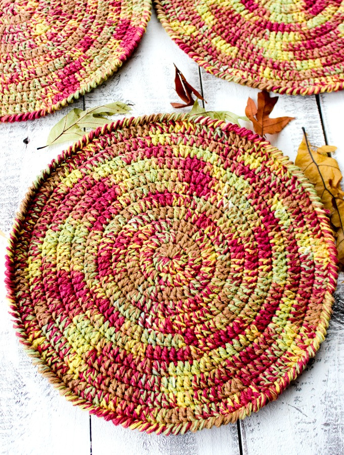 Autumn Placemats Free Crochet Pattern