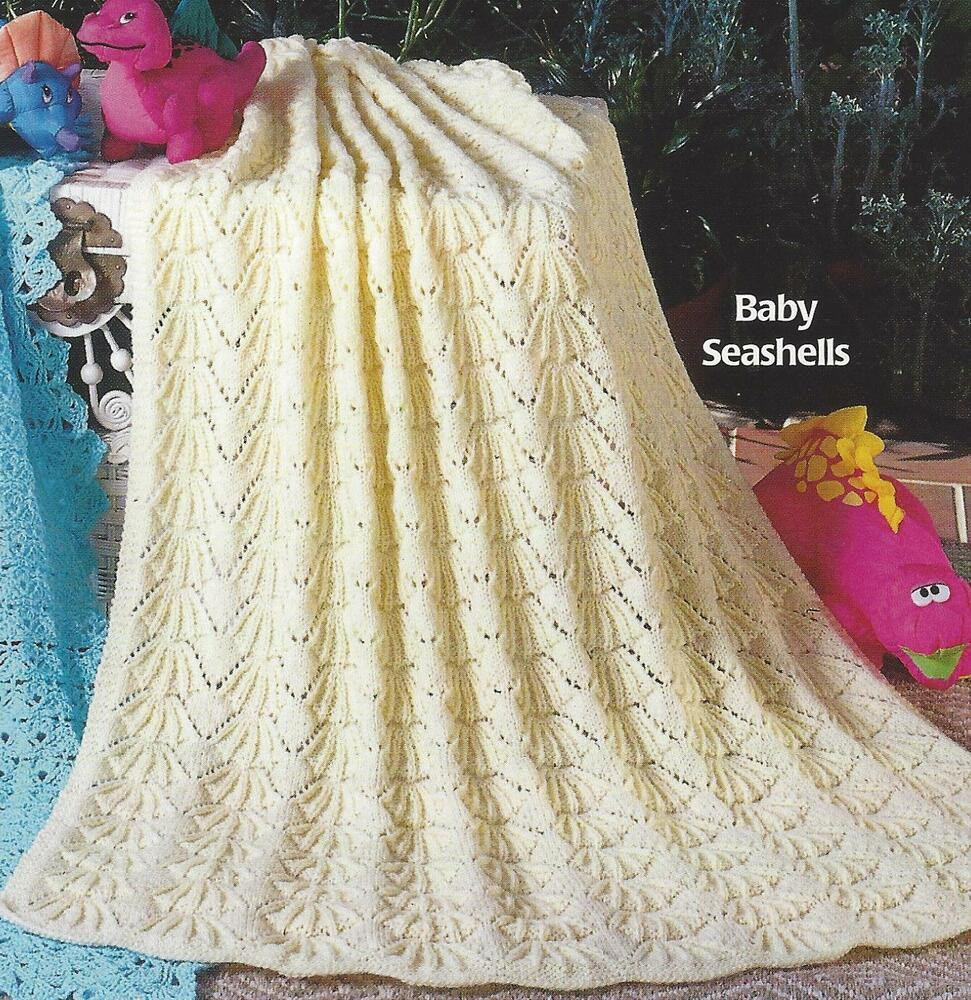 """Beautiful Baby Blanket Shawl Knitting Pattern """"seashells"""" Dk or 4ply Free Knitting Patterns for Baby Blankets and Shawls Of Innovative 43 Pictures Free Knitting Patterns for Baby Blankets and Shawls"""