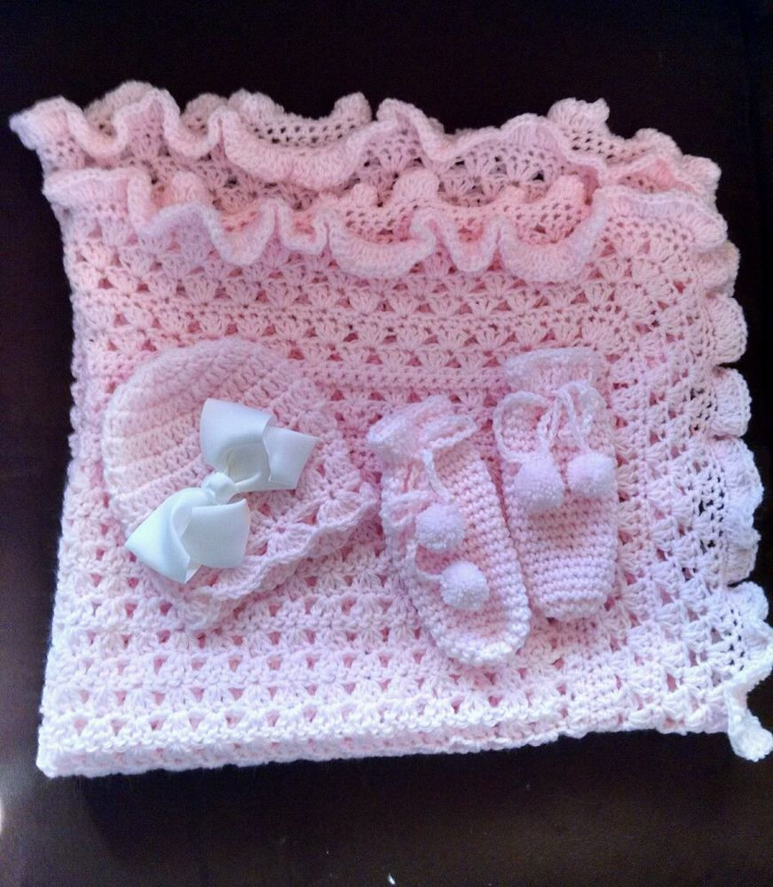 Beautiful Baby Blankets Best Of Beautiful Hand Crochet Baby Blanket Set You Pick Color Of Delightful 43 Pics Beautiful Baby Blankets