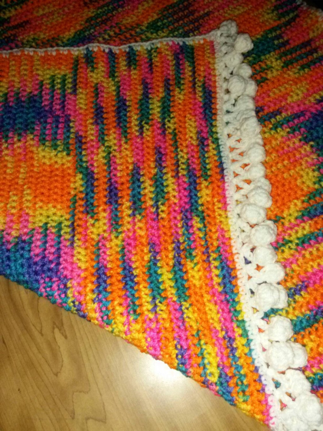 Beautiful multi colored baby blanket