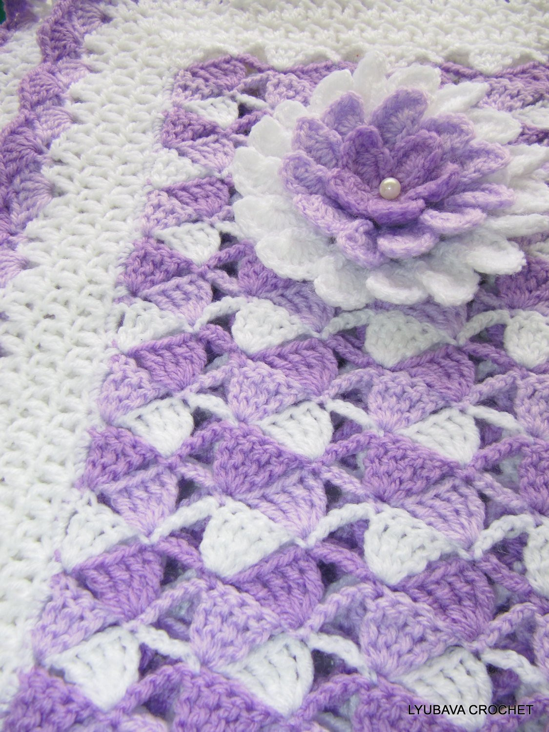 Beautiful Baby Blankets Inspirational Crochet Pattern Baby Blanket Beautiful Lilac by Lyubavacrochet Of Delightful 43 Pics Beautiful Baby Blankets