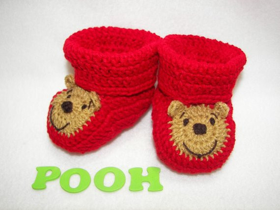 Beautiful Baby Booties Winnie the Pooh Bear Nb to Months Finely Winnie the Pooh Crochet Pattern Of Amazing 47 Photos Winnie the Pooh Crochet Pattern