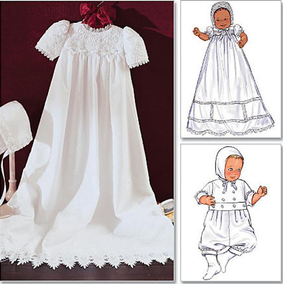 BABY CHRISTENING Sewing Pattern Babies Dress Jumpsuit Hat