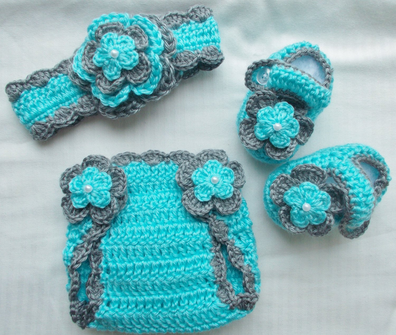 Beautiful Baby Girl Crochet Headband Hairbow Booties Diaper Cover Baby Babies Crochet Headbands Of Awesome 49 Photos Babies Crochet Headbands