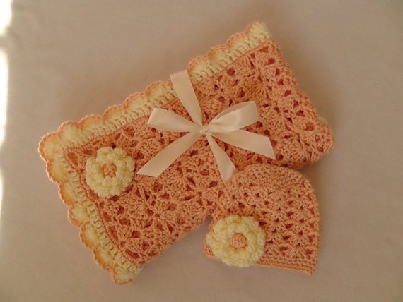 Baby Girl Crochet Shower Gift Set Baby Girl Car by