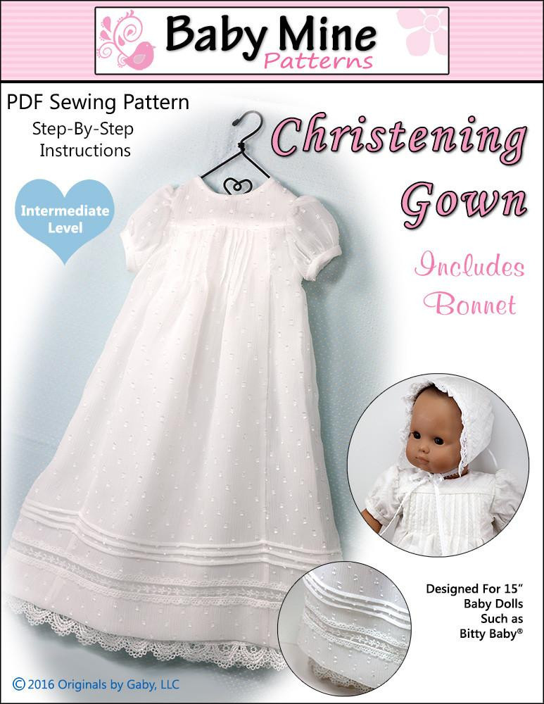 Beautiful Baby Mine Christening Gown Doll Clothes Pattern 15 Inch Baptism Gown Pattern Of Fresh 43 Ideas Baptism Gown Pattern