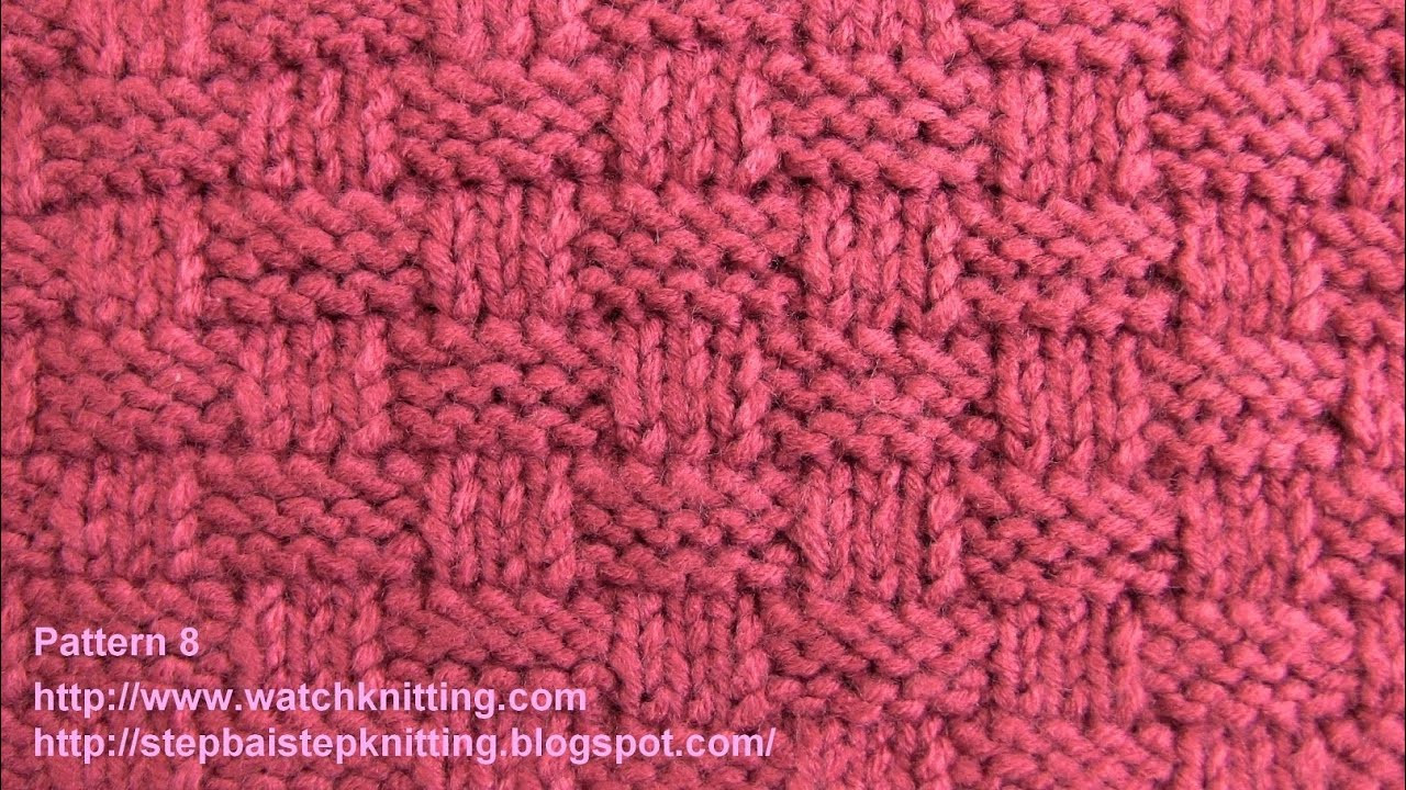 Beautiful Basket Stitch Free Knitting Tutorials Watch Knitting Basket Stitch Of Lovely 48 Models Basket Stitch