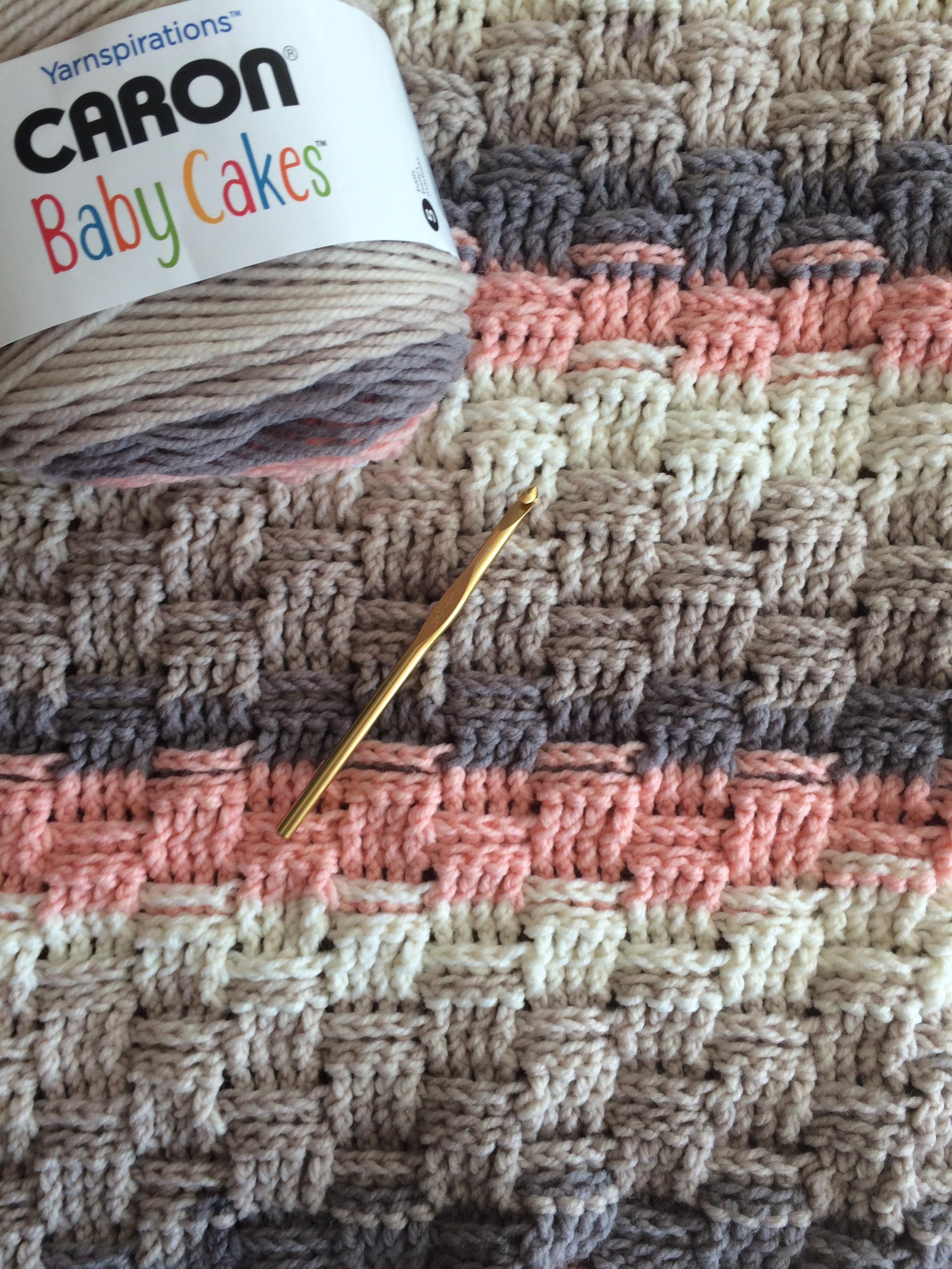 Beautiful Basketweave Blanket with Caron Baby Cakes In Dreamy Peach Caron Big Cakes Patterns Of Awesome 46 Pics Caron Big Cakes Patterns