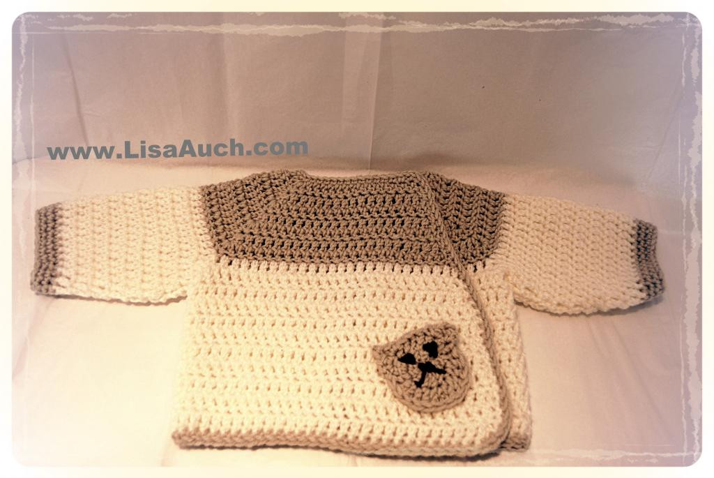 Beginners Baby Sweater Crochet Cardigan With Buttons