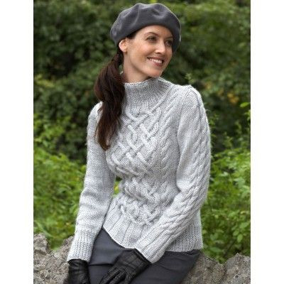 "Beautiful Best 25 Free Aran Knitting Patterns Ideas On Pinterest Cable Knit Sweater Pattern Of New Lace & Cable Sweater Dk Wool 30"" 40"" Knitting Cable Knit Sweater Pattern"