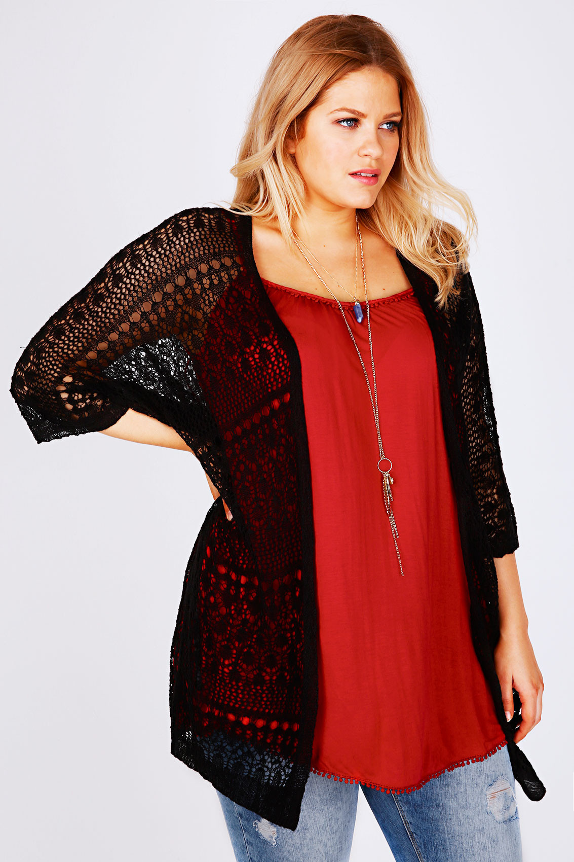 Beautiful Black Crochet Lace Short Sleeved Cardigan Plus Size 14 to 36 Crochet Lace Cardigan Of Great 45 Images Crochet Lace Cardigan