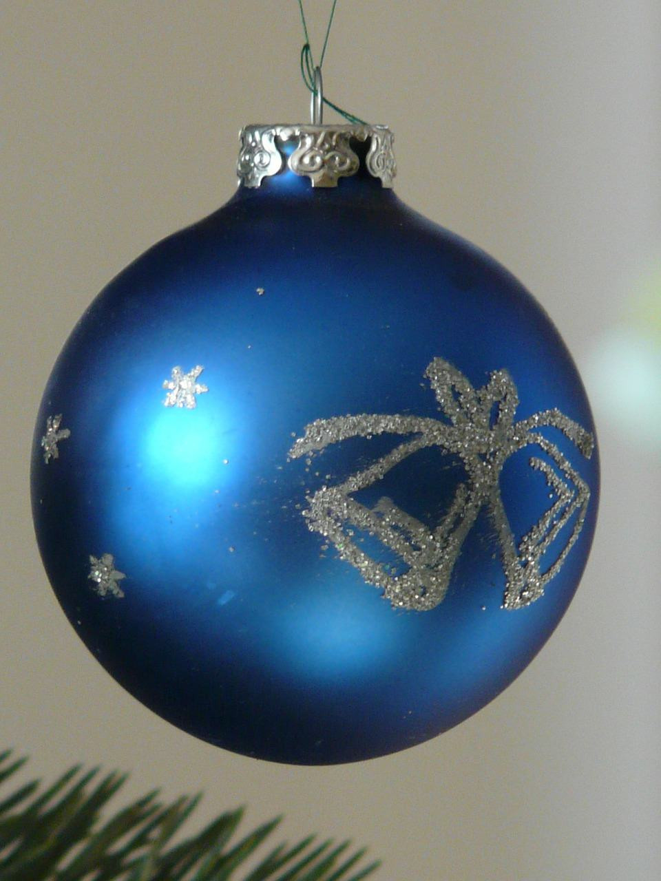 Blue Christmas Tree Ornaments