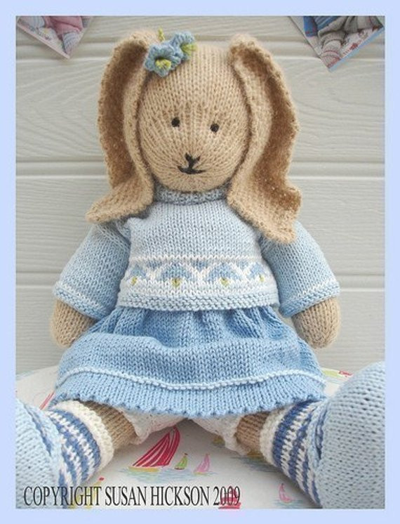 Beautiful Bluebell Rabbit Pdf toy Knitting Pattern Bunny Rabbit Knitted Bunny Pattern Of Unique 40 Pics Knitted Bunny Pattern