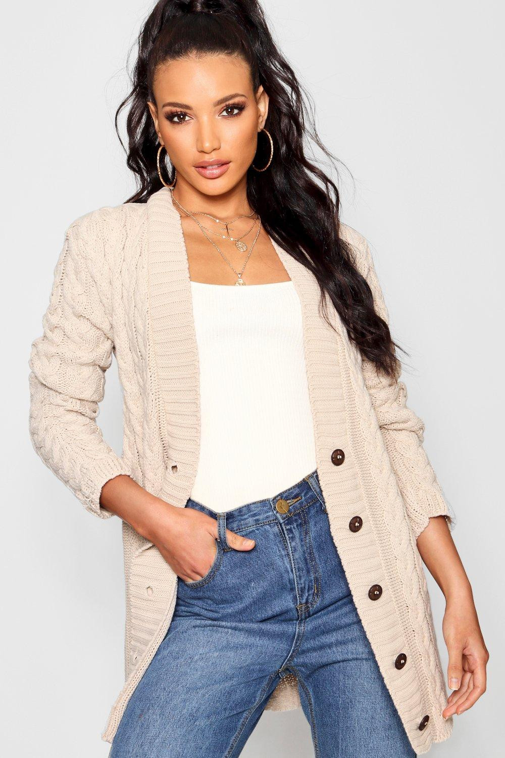 Beautiful Boohoo Womens La S Lucy Cable Knit Long Sleeve Hip Ladies Cable Knit Sweater Of Charming 49 Photos Ladies Cable Knit Sweater