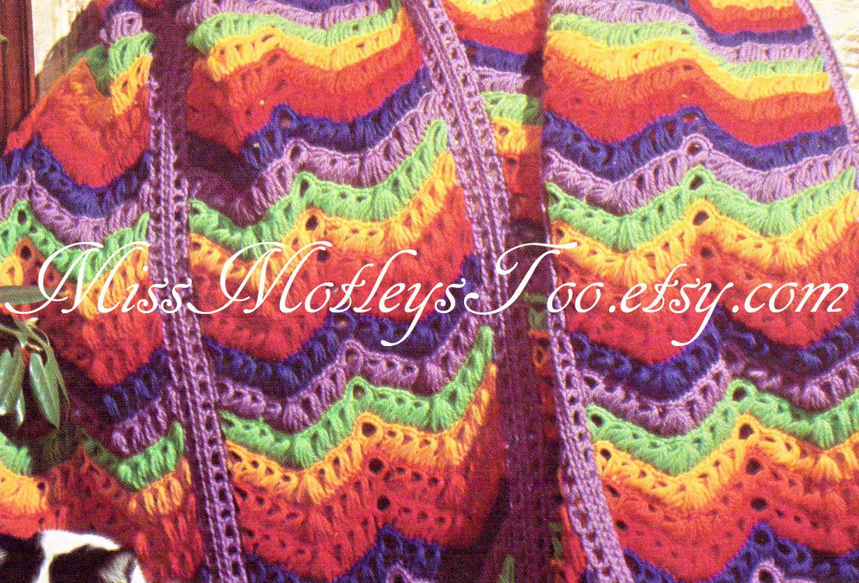 Beautiful Broomstick Lace Crochet Pattern Chevron Rainbow Afghan Blanket Broomstick Lace Crochet Of Wonderful 49 Ideas Broomstick Lace Crochet
