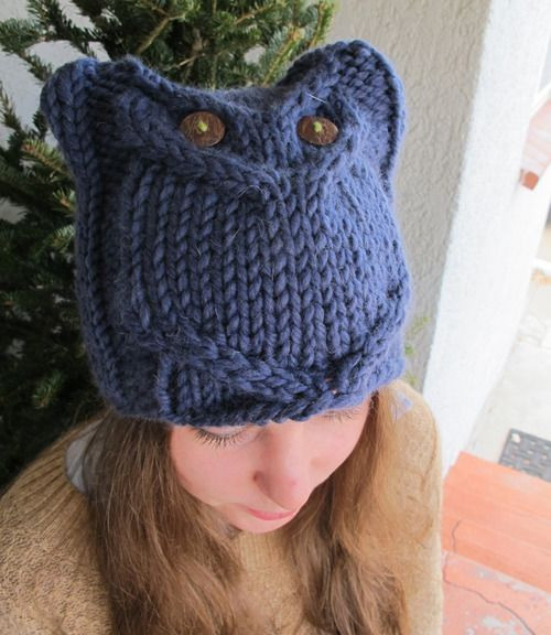 Beautiful Bulky Owl Hat Knitting Crochet Pinterest Knitted Owl Hat Of Amazing 40 Photos Knitted Owl Hat