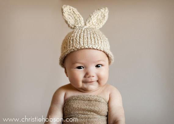 Beautiful Bunny Hat Knit Newborn Baby Hat Easter Rabbit Ready to Baby Bunny Hat Of Brilliant 47 Pictures Baby Bunny Hat