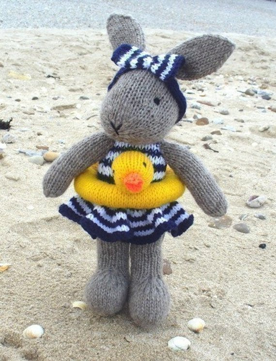 Beautiful Bunty Bunny Rabbit Goes Swimming Pdf Email Knitting Pattern by Knitted Bunny Pattern Of Unique 40 Pics Knitted Bunny Pattern