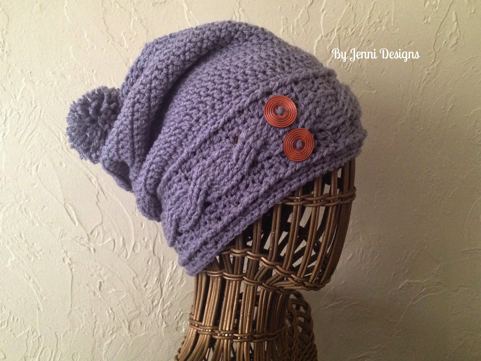 Beautiful by Jenni Designs Free Crochet Pattern Women S Slouchy Cable Hat Pattern Of New 40 Models Cable Hat Pattern