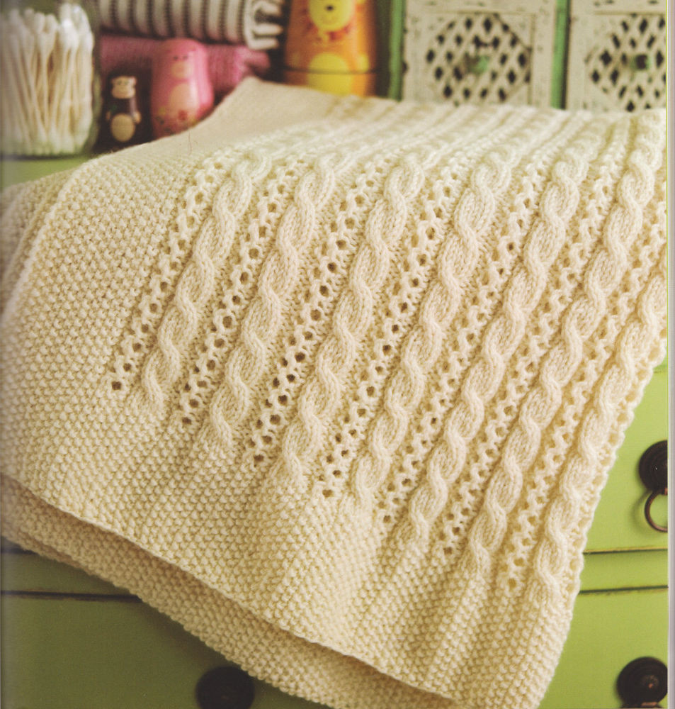 Beautiful Cable & Lace Baby Blanket Pram or Cot Size Aran Wool Lace Blanket Of Great 41 Ideas Lace Blanket