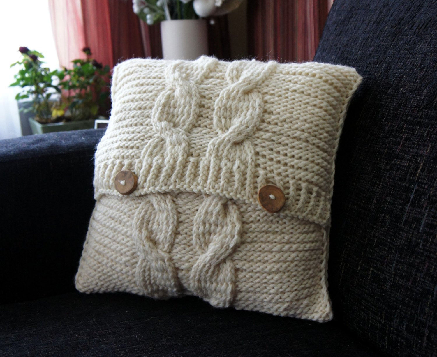 Cable Knit Pillow Cover Pillow cover Decorative Pillow