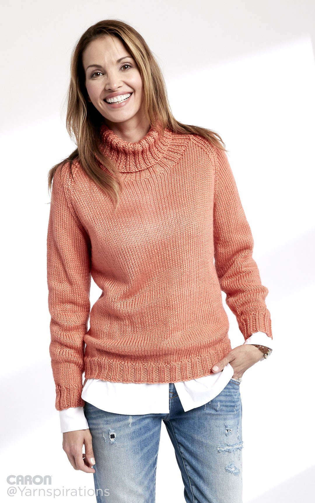 Beautiful Caron Adult Knit Turtle Neck Pullover Knit Pattern Caron Patterns Of Charming 48 Pics Caron Patterns