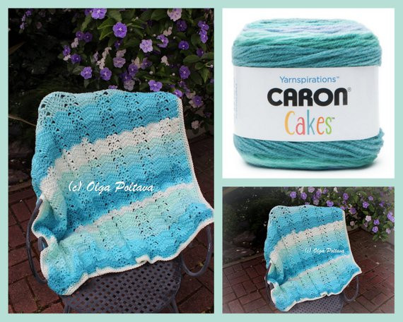 Beautiful Caron Cakes Ripple and Shells Lapghan Crochet Pattern Easy Baby Cakes Yarn Of Lovely 45 Images Baby Cakes Yarn