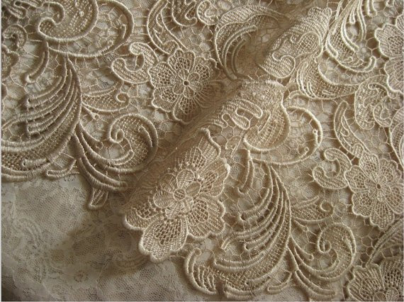 Beautiful Champagne Lace Fabric Crochet Lace Fabric Bridal Lace Crochet Lace Fabric Of Attractive 45 Images Crochet Lace Fabric