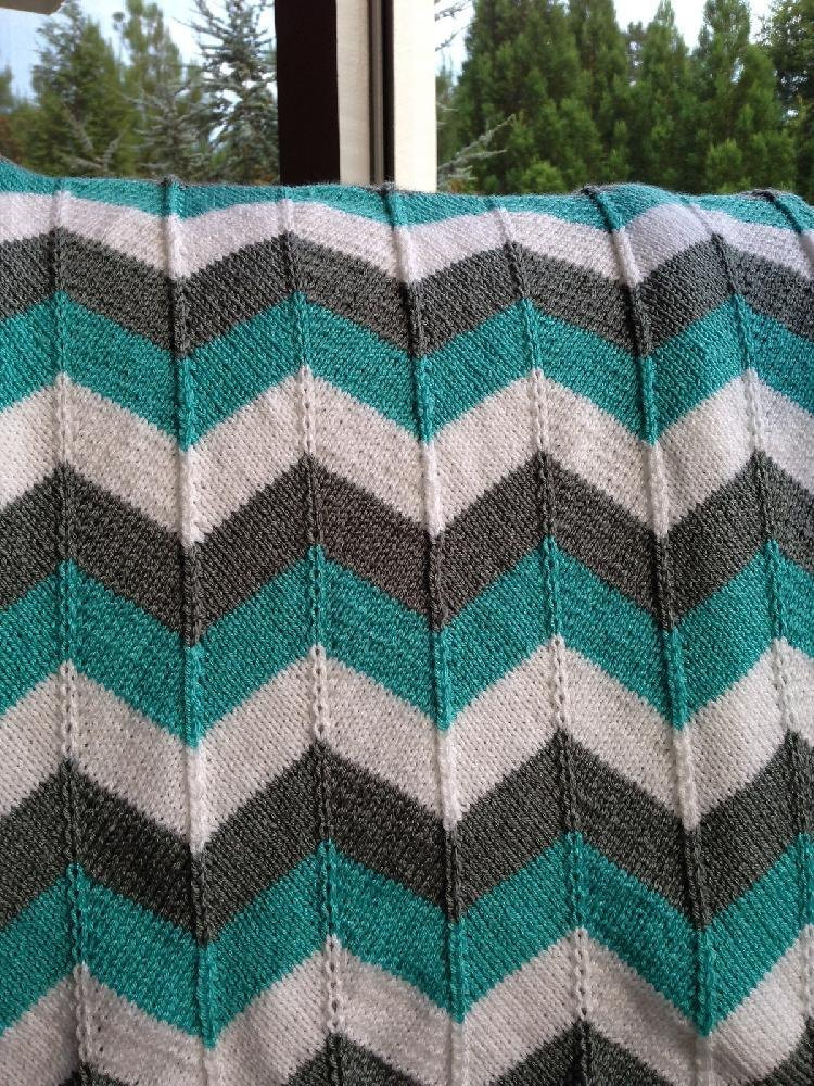 Beautiful Chevron Baby Blanket and Chevron Throw Knitting Pattern by Easy Knit Afghan Of Contemporary 50 Ideas Easy Knit Afghan