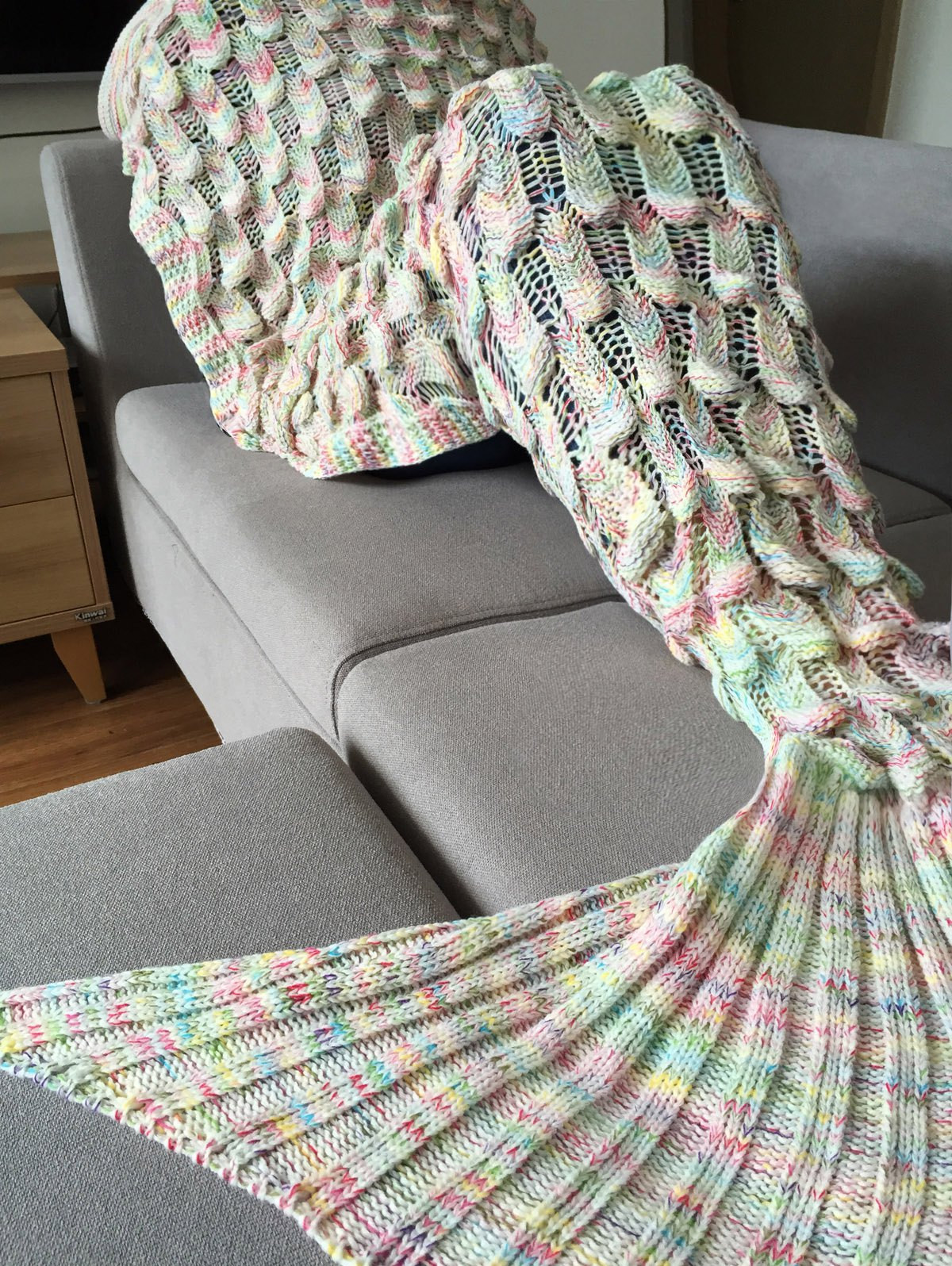 Beautiful Chic Quality Fish Scale Shape Mermaid Tail Design Knitting Knitted Mermaid Blanket Of Great 41 Images Knitted Mermaid Blanket