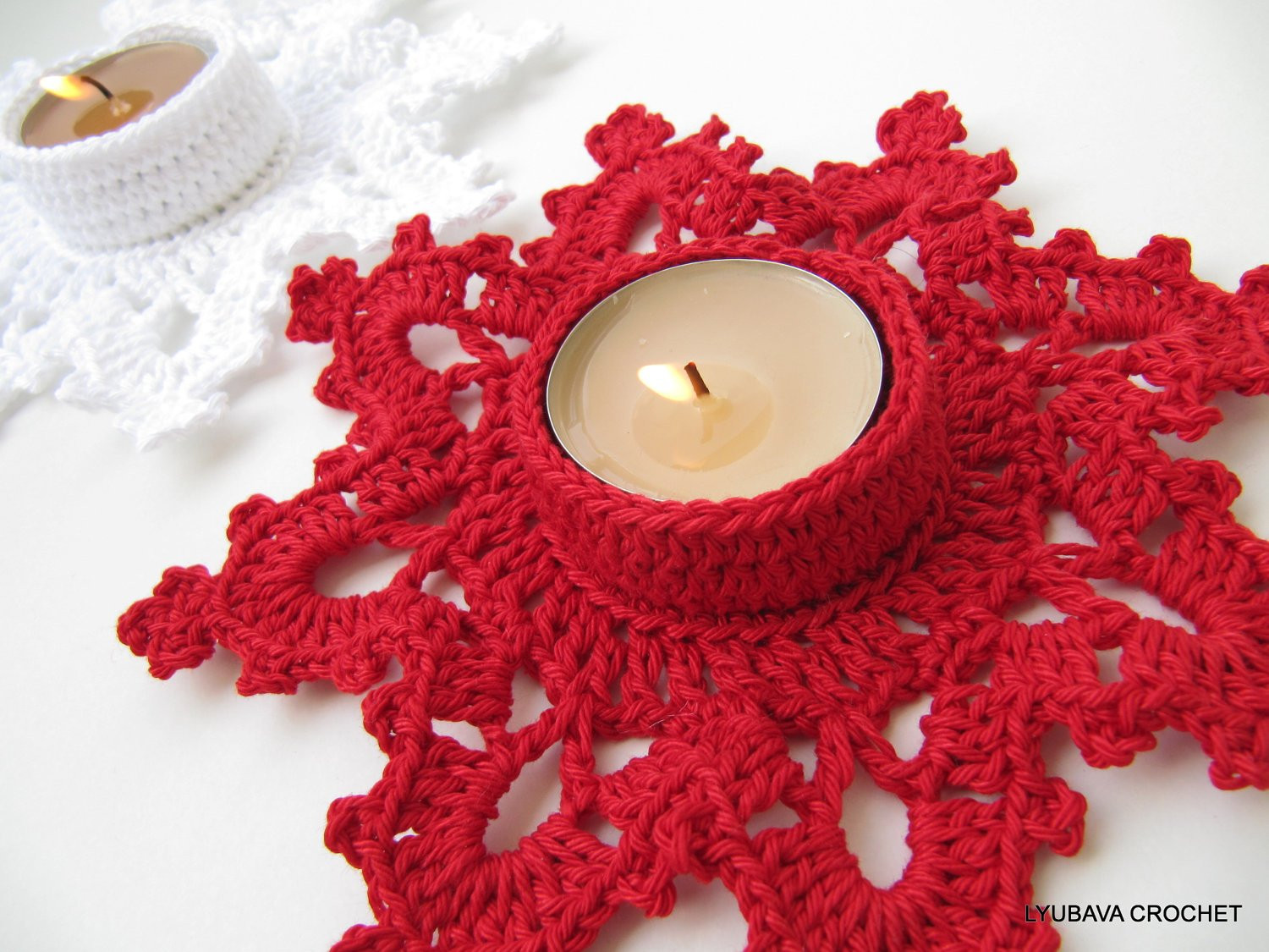 Beautiful Christmas Crochet Pattern Tea Light Holder Melting Snowflake Crochet ornament Patterns Of Beautiful 40 Pictures Crochet ornament Patterns