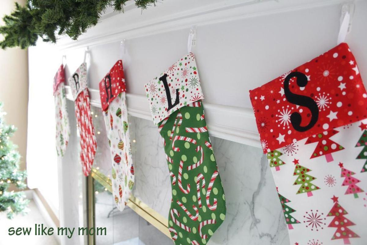 Beautiful Christmas Stockings Christmas Sewing Patterns Of Contemporary 43 Images Christmas Sewing Patterns