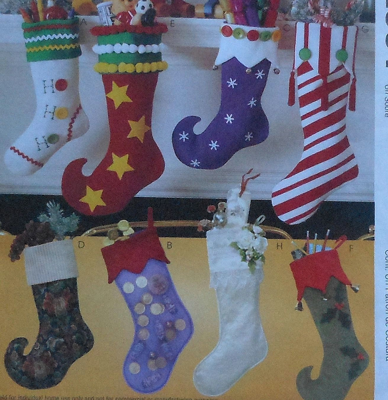 Beautiful Christmas Stockings Sewing Pattern Uncut Mccalls 2991 Eight Christmas Stocking Sewing Pattern Of Marvelous 44 Models Christmas Stocking Sewing Pattern
