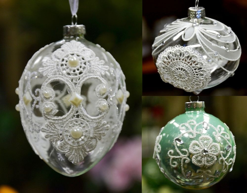 Beautiful Christmas Tree ornament Glass Ball with Laces Bauble ornaments On Christmas Tree Of Delightful 46 Images ornaments On Christmas Tree