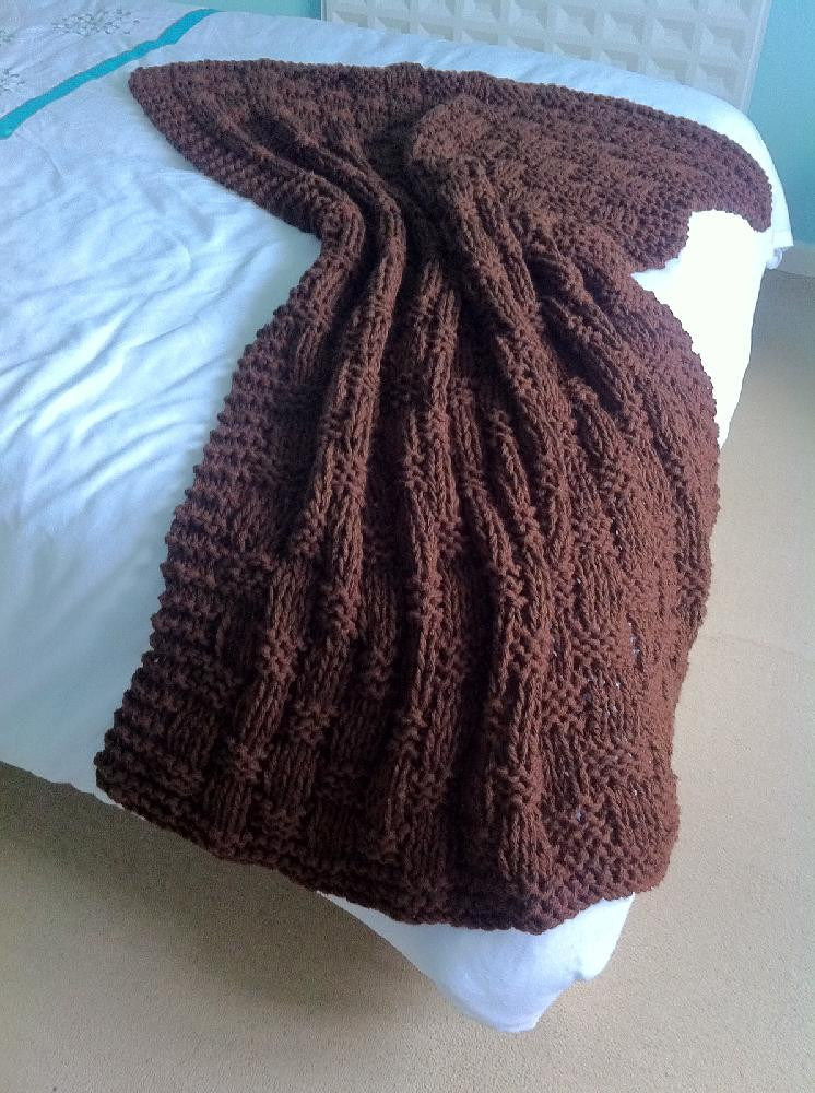 Chunky Basket Weave Blanket Throw Knitting pattern by