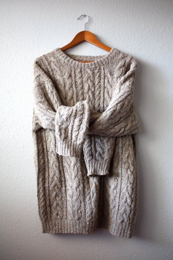 chunky cable knit jumper womens