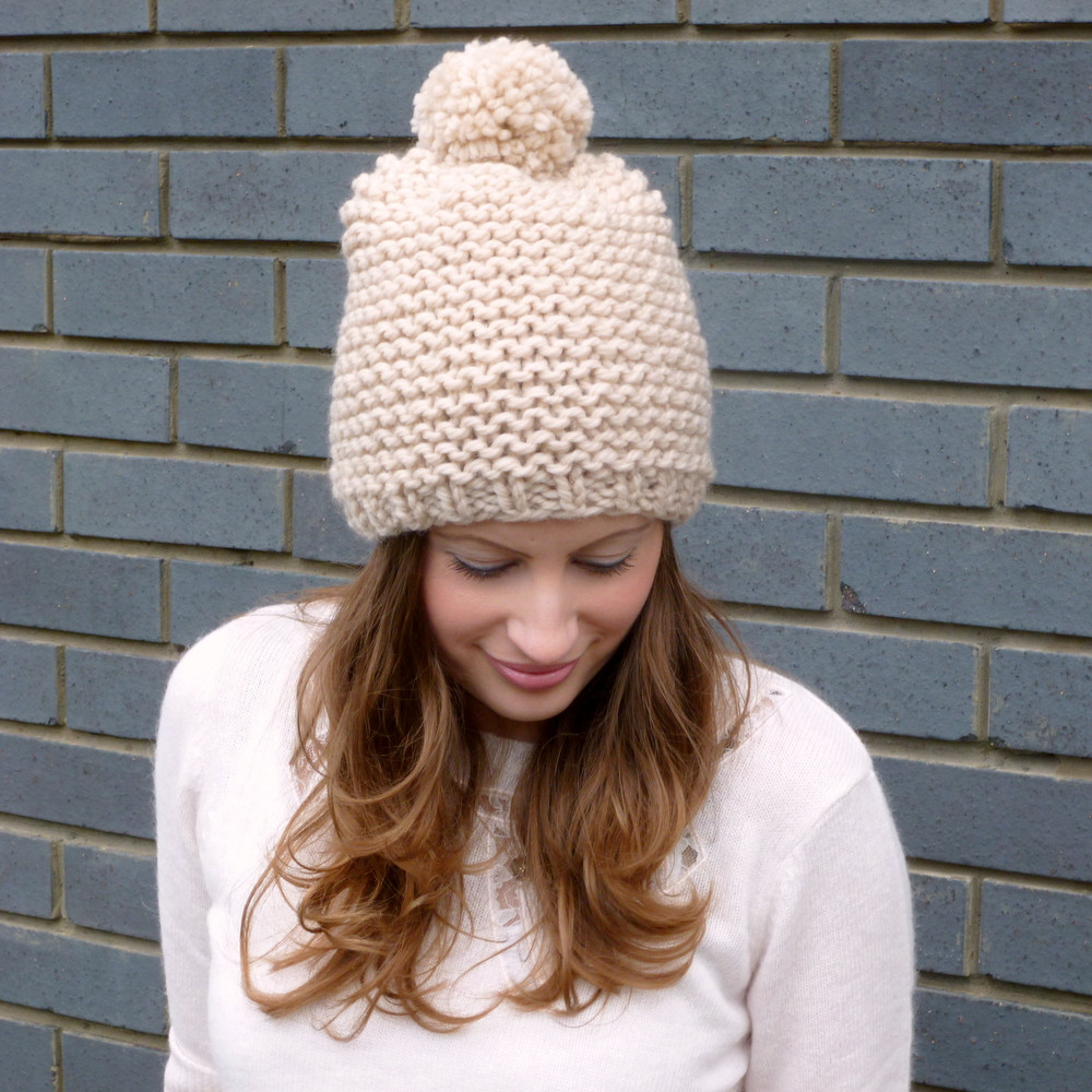 Beautiful Chunky Pom Pom Beanie Hat Hand Knitted Merino Wool On Chunky Knit Hat Of Delightful 46 Pictures Chunky Knit Hat