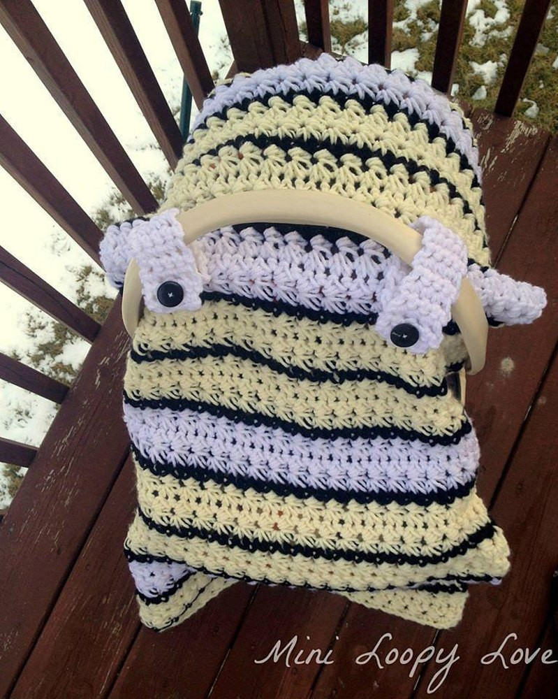Beautiful Chunky Star Stitch Car Seat Canopy Cover Crochet Pattern Crochet Car Seat Cover Of Gorgeous 44 Images Crochet Car Seat Cover