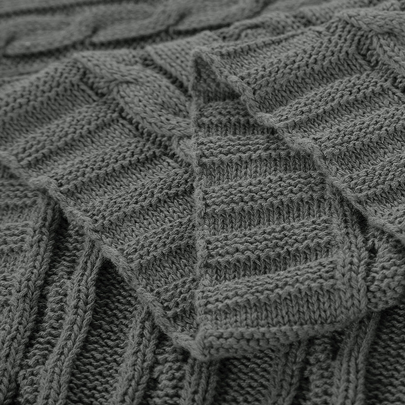 Beautiful Classic Cotton Knit Knitted Throw Blanket Cable Cotton Knit Blanket Of Innovative 42 Models Cotton Knit Blanket