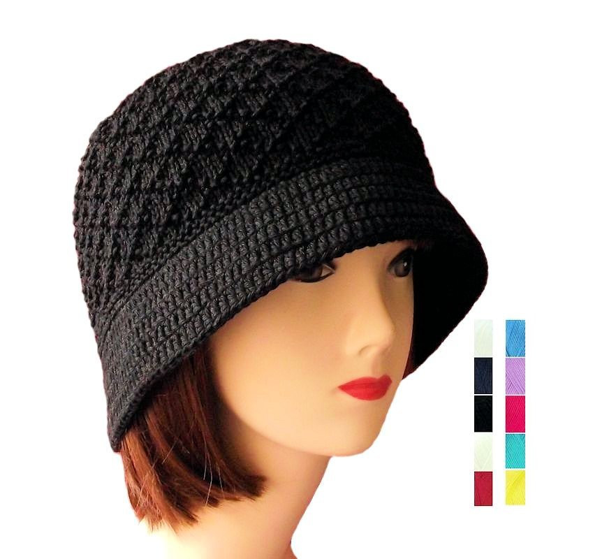 Beautiful Cloche Hat Black Cotton Bucket Hat Women S Knit Hat with Knit Cloche Hat Of Attractive 40 Photos Knit Cloche Hat