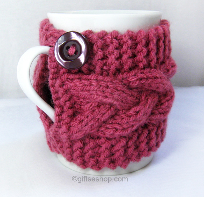 Beautiful Cofee Cup Cozy – Cable Knit Wrap Mug Warmer – Gifts Shop Knitted Mug Cozy Of Unique 48 Photos Knitted Mug Cozy