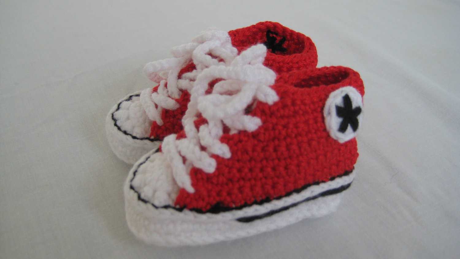 Beautiful Converse Style Crochet Baby Booties Red by Babyjaneknits Crochet Converse Baby Booties Of Wonderful 41 Models Crochet Converse Baby Booties