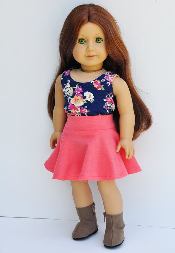 Beautiful Coral Skirt Skater Skirt Pattern and Skater Skirts On American Girl Doll Skirts Of Incredible 50 Ideas American Girl Doll Skirts