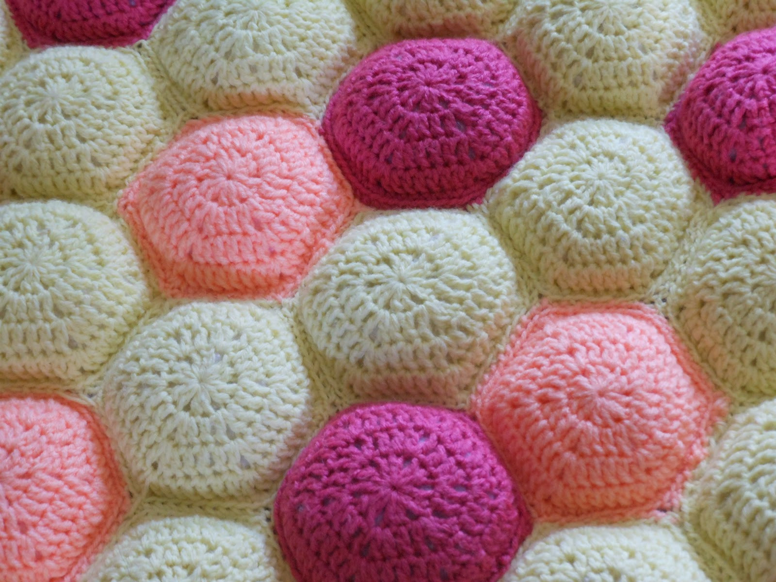 """Beautiful Craft Disasters and Other atrocities Hexa Puff Baby """"quilt"""" Puff Crochet Of Great 49 Ideas Puff Crochet"""