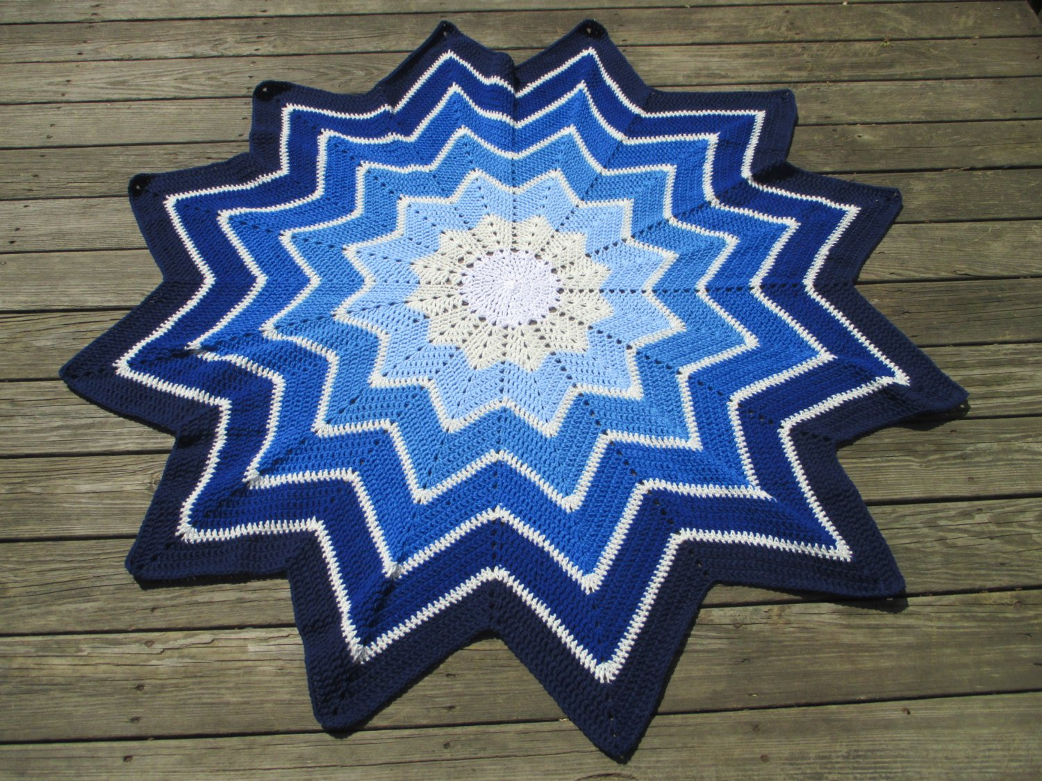 Beautiful Crochet 12 Point Star Afghan Blanket Throw Crochet Star Blanket Of Superb 49 Images Crochet Star Blanket