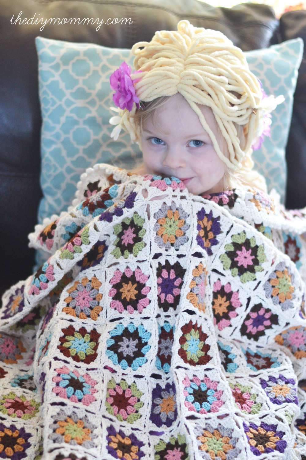 Crochet an Organic Cotton Granny Square Baby Blanket