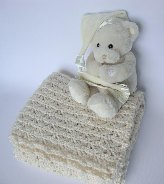 Crochet Baby Blanket Baby Blanket Lap Blanket Crib Size